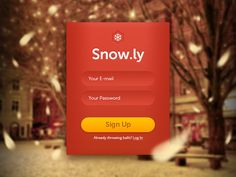 Snow.ly Sign Up by Tom Brennessl
