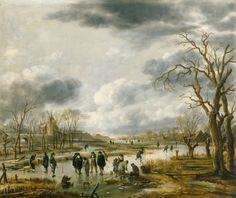 Aert van der Neer - IJsvermaak buiten de stadswal (ca. 1655)