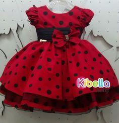 Vestido Infantil Da Minnie Vermelho C/ Laço - Tam. 1 / 3 - R$ 139,90 no MercadoLivre