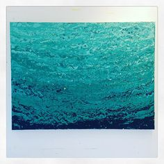 """""""Swell"""" 30""""x40""""  Luscious layers of oil paint and cold wax on gallery wrapped canvas.  West Coast inspired abstract seascape. Email nicolettevalikoski@gmail.com for more information."""