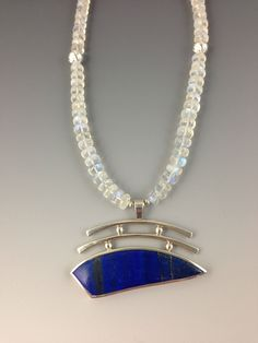 Lapis with moonstone beads - Cheri Tatum