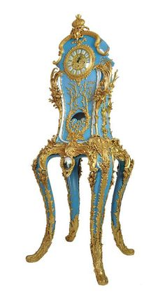 A Sevres style porcelain gilt bronze mounted clock Franz Hermla 182 cm high, 60 cm wide and 54 cm deep
