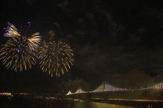 San Francisco Bay Bridge Fireworks
