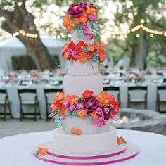 Pink And Orange Wedding Cake - site requires sign up to see a bigger picture.