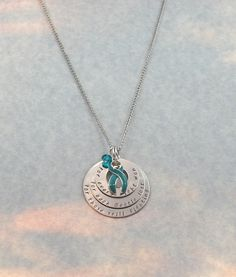 Ovarian Cancer Awareness Support Necklace by RoxysCreations