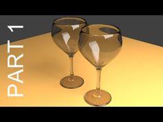 Blender Tutorial For Beginners: Wine Glasses - 1 of 2