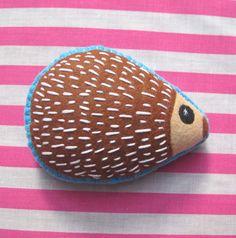 Felt Hedgehog Plush Woodland Animal Toy by ClaireyLouCreations, $20.00