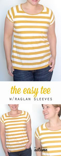 The Easy Tee Sewing Pattern - http://pinterest.com/allsewingpins
