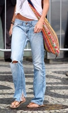 Distressed boyfriend jeans. My obsession.