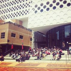 Our audience enjoying some sun during lunch.