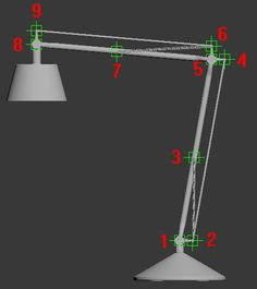 Rigging a lamp in 3ds max - Tip of the Week