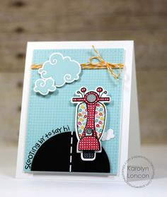 Card by PS DT Karolyn Loncon using PS Scooters Icons and coordinating stamp set