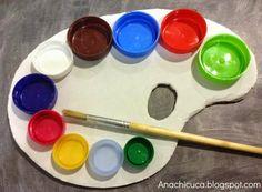 Reciclar tapones de plástico: Paleta de pintor Plastic Bottle Caps