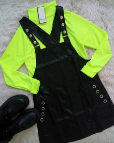 Neon Outfits, Tumblr Outfits, Teen Fashion Outfits, Edgy Outfits, Retro Outfits, Grunge Outfits, Look Fashion, Urban Fashion, Girl Fashion
