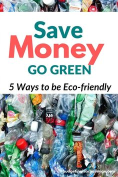 Want to go green and save money? 5 Actionable tips to be more eco-friendly for busy families Saving Ideas, Money Saving Tips, Money Tips, Save Money On Groceries, Ways To Save Money, Finance Blog, Finance Tips, Creating Wealth, Family Budget