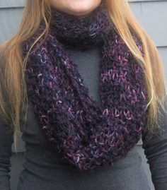 Hand Knitted Infinity Scarf Shawl Circle Scarf by WendysWonders127, $60.00