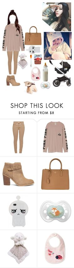 """""""《Going to the mall》"""" by christina-of-silv3r ❤ liked on Polyvore featuring Barbour, Victoria's Secret, Sole Society, Usagi, Prada, Gerber, Carter's and Royal Baby"""