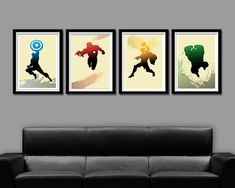 Super Hero Minimalist Movie Poster Set Home by BigTimePosters