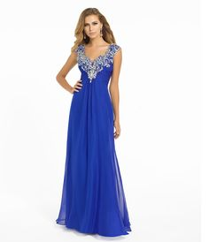 Blush 2014 Prom Dresses - Sapphire Beaded Long Prom Dress - Unique Vintage - Prom dresses, retro dresses, retro swimsuits.