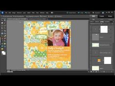 How to customise a digital scrapbooking quick page in Photoshop Elements | http://www.digitalscrapbookinghq.com/ #digiscrap #tutorial
