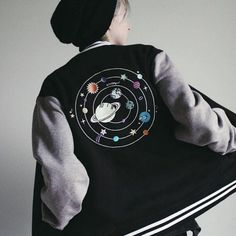 A personal favorite from my Etsy shop https://www.etsy.com/listing/477373219/aliens-solar-unisex-baseball-jacket
