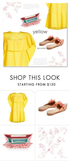 """""""La La Land feeling"""" by katymill ❤ liked on Polyvore featuring RED Valentino, Delpozo, yellowdress and lalaland"""