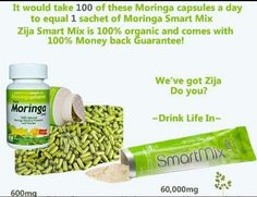 Why would you take these Moringa capsules when you can get more from one pouch of SmartMix, SuperMix or XM+ order your Moringa today @ www.saram.myzija.com