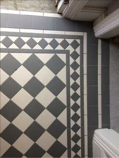 Victorian floor tiles gallery Original Style floors period floors Home Deco Floor floors Gallery Original painted floor tiles bathroom period Style Tiles Victorian Hall Tiles, Tiled Hallway, Entry Tile, Entryway Flooring, Hall Flooring, Porch Flooring Tiles, Porch Tile, Victorian Bathroom, Victorian Hallway Tiles
