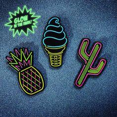 Image of Neon Ice Cream Cone Pin!