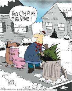 Lol. Animal jokes The Flying McCoys Comic Strip on GoComics.com