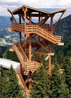 Graf-Holztechnik - Areas of activity - Observation towers - Hirschenkogel observation tower at Semmering, Lower Austria