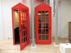 British style phone booths. Foursquare - Soho - NYC
