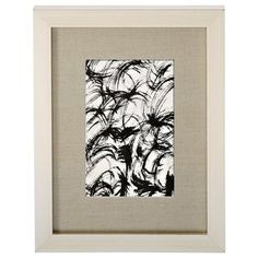 """Silver Leaf Frame with Linen Mat – 4"""" x 6"""""""