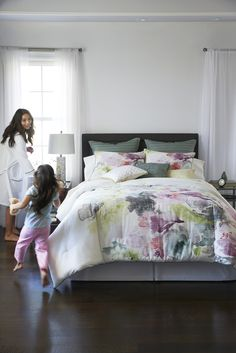 Do you have a minimalist style? This soft watercolor comforter set will blend perfectly with your clean motif while bringing in delicate hues. Pile on the pillows for a plush bed that's totally dive-worthy!