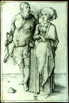 Albrecht Dürer - The Cook and His Wife