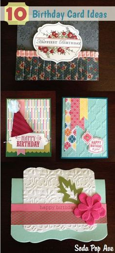 10 Birthday Card Ideas! These are all so cute! www.SodaPopAve.com