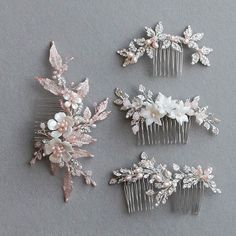 Precious pieces in silver and pale pink tones