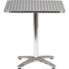 Aluminium Bistro Square Table  www.officefurnitureonline.co.uk