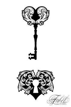 Sara Fabel illustration - Lock and Key
