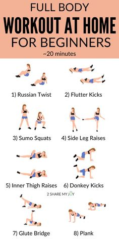 Full Body Workout At Home For Beginners {no equipment}