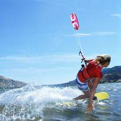 Learn a new way to ride the waves with kite surfing. #KiteSurfing #WorldWaterDay