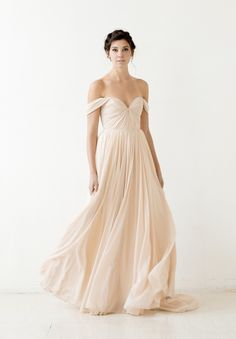 SARAH SEVEN FALL 2015 COLLECTION...so the bust and sleeves I LOVE but if the back was low and the skirt was a super full chiffon with a long train, it would be perfect.