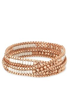 Luna Wrap Bracelet - Rose Gold  Pink  ALL proceeds from October sales go to the Noreen Fraser Foundation for Women's Cancer Research!  http://www.stelladot.com/ts/ajuj5