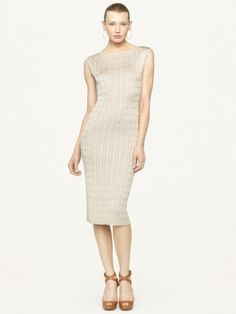 Ralph Lauren Cabled Silk Dress
