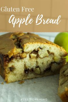 Delicious Gluten Free Apple Pull Apart Bread - Egg Free and Gum Free | Full of yummy cinnamon and apples! #zestforbaking #glutenfreebread #glutenfreerecipes #yeastbread Gluten Free Quick Bread, Gluten Free Flour Mix, Gluten Free Treats, Dairy Free Recipes, Apple Recipes, Bread Recipes, Non Dairy Butter, Gluten Free Thanksgiving, Apple Bread