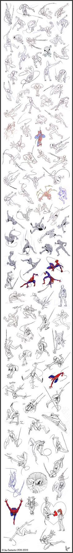 100 Spidey Poses by *2Ajoe on deviantART
