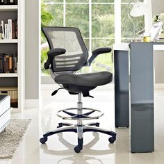 Hercules Extra Wide Leather Look Drafting Chair With Arms U2013 Square Back |  Best Assortment Of Big U0026 Tall Office Chairs | Pinterest | Drafting Chair,  ...