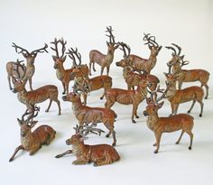 Your place to buy and sell all things handmade Christmas Deer, Christmas Past, Vintage Christmas, Deer Photos, Sea Side, Jingle Bells, Spun Cotton, Paper Mache, Elk
