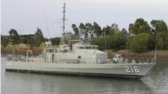 HMAS GLADSTONE, Fremantle Class Patrol Boat, now decommissioned.