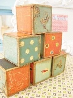 We're looking for square wooden blocks with graphics on them for the Toytisserie. Have any to spare?